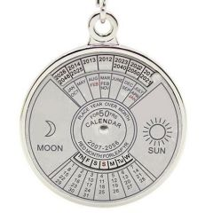 Calendar Date Month Year Day Time Compass Keychain Keyring Of 50 Years