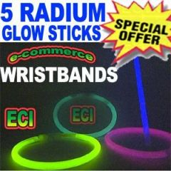 5pc Radium Glowsticks Wrist Band Toy