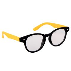 Petrol Yellow Round Sunglasses(Clear)