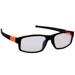 Petrol Orange Wayfarer Sunglasses (Clear)