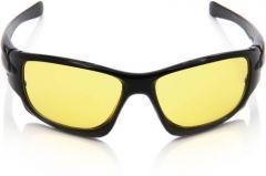 Nectar Yellow Wrap-Around Sunglasses for Men
