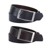 Set Of 2 Belts - Black & Brown