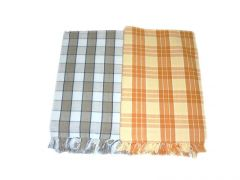 Tidy Collection Multi Colour Cotton Checked Bath Towel - Pack Of 2
