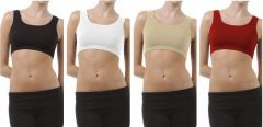 Set Of 4 Sports Comfortable Inner Seamless Beautiful And Stylish Air Bra Free Size(Code - 4 air bra)