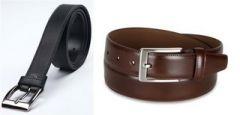 Shop or Gift Pack of 2 Italian Leather Men's Belt Online.