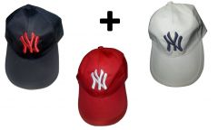 CAPS COMBO Set Of 3 NY Logo Caps For Men And Women