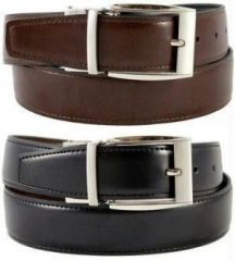 Ksr Etrade Reversible Formal Leather Belt Black And Brown Rb2