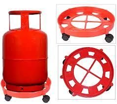 Cylinder trolley with free 4in1 multipurpose kitchen tool