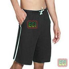 Gents Black Shorts Jogging Nicker, Men Hosiery Cotton Bermuda Half Pant