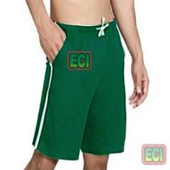 Gents Green Shorts Jogging Nicker, Men Hosiery Cotton Bermuda Half Pant