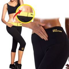 Hot Shapers Women Capri Exercise Yoga Hot Thigh Wonder Tummy Shaper Fat Burner