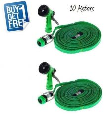 Dh Buy 1 Get 1 Free - Water Spray Gun 10 Meter Hose Pipe- House, Garden