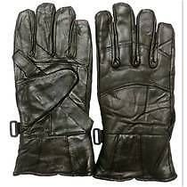 WINTER BIKERS WARM LEATHER MOTORCYCLE RIDER GLOVES FOR BIKE DRIVING
