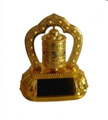 Sobhagya Feng Shui Rotating Solar Prayer Wheel Ornaments For Car / Home