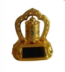 Feng Shui Rotating Solar Prayer Wheel Ornaments For Car / Home