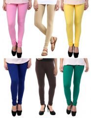 Stylobby Set Of 6 Cotton Lycra Legging