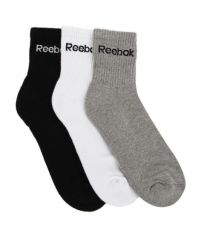Reebok Multicolor Cotton Casual Ankle Length Socks For Men - Pack Of 3