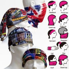 Bikers Multi Purpose Face Mask Bandana Scarf 4 PCs Lot Balaclava Cap