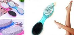 4in1 Pedicure Tool Foot Scrubber Nail Brush File