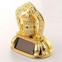 Solar Prayer Wheel Ornament