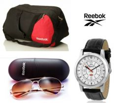 Reebok Gym Duffle Bag And Reebok Sunglasses With Free Reebok Watch - Men's Lifestyle