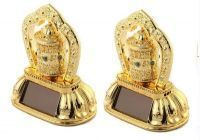 Set Of 2 Solar Prayer Wheel Ornaments For Car