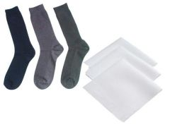 Set Of 3 Cotton Socks With Handkerchiefs