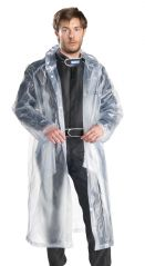 Gents Long Rain Breaker transparent Raincoat for Rainy season with carry Pouch