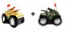 Buy 1 Get 1 Free Tumbling Tank Toy For Kids, Battery Operated, Full Fun - Babycare & Toys