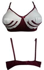 Pure Cotton Maroon Underwear Bra , Linning Pattern (Code- Vanila Maroon)
