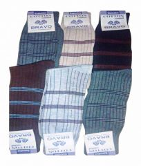 Bravo 12 Pair Men Colors Ribbed Formal Wear Dress Socks