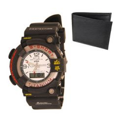 New Stylish Wrist Watch For Men & Free Black Wallet