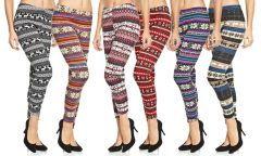 Gift Or Buy Printed Woollen Legging For Ladies ( Assorted Colours )