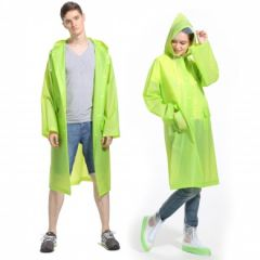 Ladies And Gents Rain Breaker transparent Raincoat for Rainy season with carry Pouch