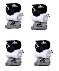 Adidas Mens Cotton Multicolor Socks (12 Pair Socks-4 Black,4 White , 4 Grey) (code - Adidas-4)