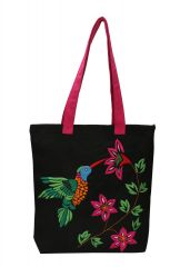 Pick Pocket Black Canvas Tote Bag
