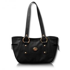 Shop or Gift Fostelo Black Leather Titanic Handbag Online.