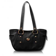 Shop or Gift Fostelo Black Leather Titanic Handbag Online.