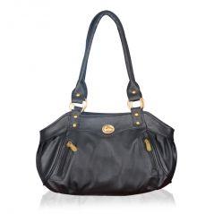 Shop or Gift Fostelo Swann Black Leather Handbag Online.
