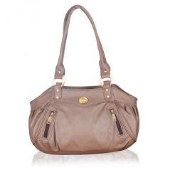 Shop or Gift Fostelo Swann Beige Leather Handbag Online.