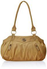 Fostelo Swann Beige Leather Handbag