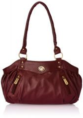 Fostelo Swann Magenta Leather Handbag