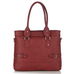 Fostelo Multicompartment Maroon Handbag