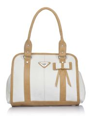 Fostelo Women's Luciana Shoulder Bag White (FSB-898)