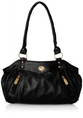 Fostelo Swann Black Leather Handbag