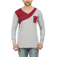 AALRYT Full Sleeve V Neck Cotton T Shirt(CODE-SPL007)