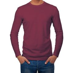 AALRYT Cotton Long Sleeve T-Shirt-FLV001MRN