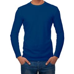 AALRYT Cotton Long Sleeve T-Shirt-FLV001NVY