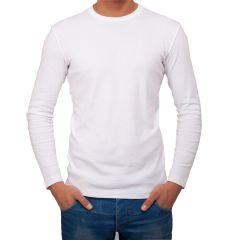 AALRYT Cotton Long Sleeve T-Shirt-FLV001WHT