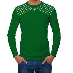 AALRYT Olive Green Full Sleeve Cotton T Shirt-GFLV.OGN